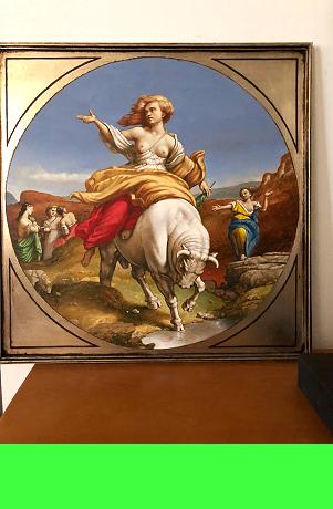 Die Feinschmeckerin &bull; 100 cm x 80 cm &bull; Öl auf Leinwand &bull; 2016 &bull; Preis: 1500,- Euro &bull; <span class='ak'>Ankaufanfrage</span>