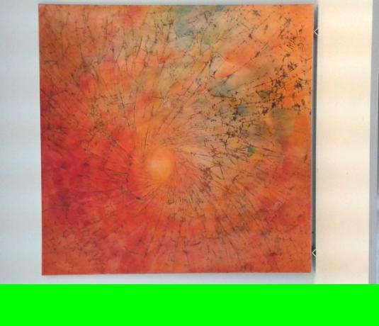 Solar • 150 x 150 cm • mit Aluwinkel gerahmt, Acryl auf Zeichenkarton durch Hartfaser verstärkt • Preis: 1300,- Euro • <span class='ak'>Ankaufanfrage</span>
